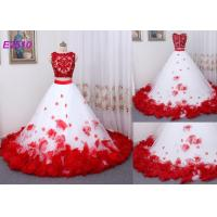 Quality Vintage Two Pieces Ball Gown Prom Dresses Applique Flowers Evening Dress wholesale