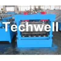 Quality 1250mm Material Width, Steel Metal Corrugated Panel Forming Machine With Punching wholesale