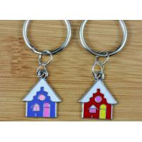 Quality Zinc Alloy Promotional Metal Keyrings , Custom Shape Metal Keychains wholesale