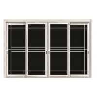 Quality Clear Living Room Aluminium Sliding Door Glass With Anodized Silver Aluminium Profile wholesale