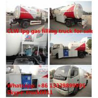 China CLW brand 5m3 mini lpg tank trucks with refilling system, 2tons mini CLW cooking gas dispensing truck for gas cylinders on sale