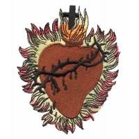 Quality Embroidery digitizing service for custom patch cross and heart S1080507102 wholesale