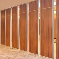 Quality Soundproof Moveable Doors Sliding Partition Walls Wooden Surface ISO9001 wholesale