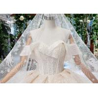 Cheap High End Customize Off Shoulder Sequins Bridal Ball Gowns Vintage Luxury Wedding for sale