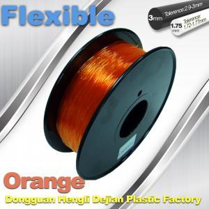 Quality Orange 3.0mm / 1.75mm Rubber  Flexible 1.0KG / Rolls 3D Printer Filament wholesale