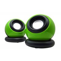 Quality Multi Function USB Small Computer Speakers 2.0 Green Color 110*90*90mm wholesale