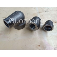 China A105 Threaded Half / Full Socket Weld 1/8 Forged Steel Coupling on sale
