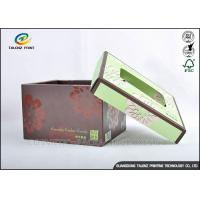 Quality Brown Foldable Cardboard Gift Boxes With Lids Matt Varnish Surface Finishing wholesale