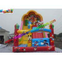 China Popular Mickey Mouse Commercial Inflatable Slide , Blow up Slide 7L x 4W x 6H Meter on sale