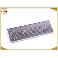 Quality OEM Service Decorative Shiny Chrome Metal Logo Tags , Zinc Alloy Custom Logo Clothing Labels  wholesale