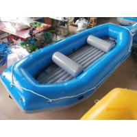 Quality Blue River Rafting Boat With Inflatable Floor / Raft Inflatable Boat wholesale