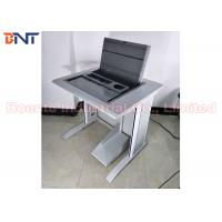 China University Laboratory Computer LCD Monitor Lift , Tabletop Hidden Flip Up Box on sale