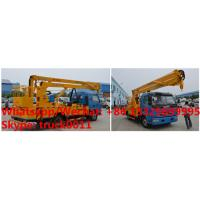 Quality factory sale 2018s 14m-16m fold arm type High altitude working platform Aerial truck crane truck with working bucket wholesale