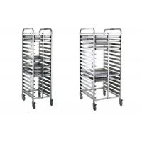 Quality Bread Baking Equipment Tray Rack , Stainless Steel Mobile Trolley For Kitchen wholesale