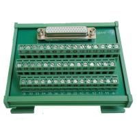 China DB44 Female socket D Sub terminal block breakout board adapter cable connector DIN Rail on sale