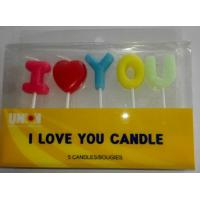 Quality I LOVE YOU letters candles birthday cake candles Wedding Cake candles wholesale