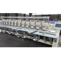 Quality White Business Flat Embroidery Machine With Auto Cutter 12 Colors wholesale