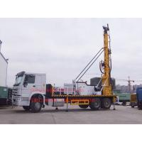 Quality Sinotruk Truck Mounted Water Well Drilling Rig , Cummins Engine Hydraulic Water Drilling Equipment wholesale