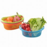 Quality Fruit Baskets, Made of PP, FDA Certified, Customized Designs and Colors are Accepted wholesale