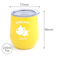 Quality BSCI 7 Oz 220ml Stainless Steel Stemless Wine Tumblers wholesale