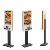 Quality Restaurant Fast Food Self Ordering Kiosk System , Interactive Touch Screen Kiosk 27 Inch wholesale