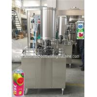 China Small Beverage Can Filling Machine, Can Filler And Seamer, Juice Packing Machine on sale