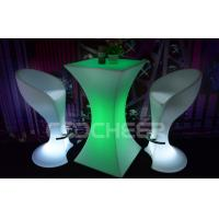 Quality Party Event LED Bar Furniture / Tall LED Light Bar Table White Bar Stools wholesale