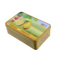 Quality Lemon Cake Tin Box ,CYMK Printed Metal Container Food Graded 0.23mm wholesale