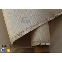 Quality 1150g 1.2mm Brown High Silica Fabric 800℃ Kiln Heat Insulation Fiberglass Cloth wholesale