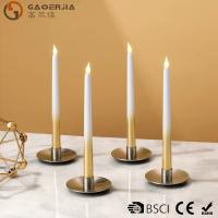 Quality Battery - powered Flameless LED Taper Candles With silver painted wholesale