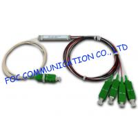 Quality FTTX Fiber Planar Lightwave Circuit Splitter Mini Tube Type Low PDL 1 × 4 wholesale