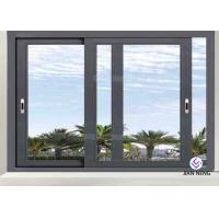 Double Glazed Aluminium Sliding Windows For House 1.4mm~3.0mm Wall Thickness