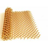 China Spiral Weave Diameter 1.2mm Aluminum Mesh Fabric For Hotal Decoration Ceiling on sale