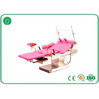 China customized Red medical exam beds , stainless steel surgical tables with electric linak motors on sale
