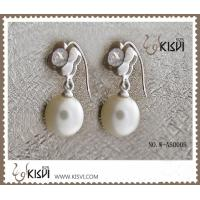 Quality Fashion Jewelry 925 Sterling Silver Gemstone Earrings with Imitated Pearl W-AS000B wholesale