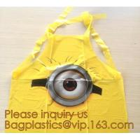 China Recyclable Material Heat Seal Beedo Printed Plastic Party Apron Bag,eco-friendly cooking apron adult waterproof oilproof on sale