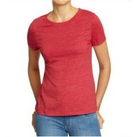 Quality Solid Color Womens Hemp Cotton Clothing Red Plain T Shirt OEM Service Available wholesale