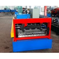 Quality Automatical Steel Roof Panel Roll Forming Machine Cr 12 Cutting Blade PLC Control wholesale