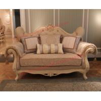 Cheap Luxury French-type Sofa set made by Wooden Carving Frame with Fabric Upholstery for sale