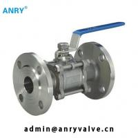 China 3pcs Casted Steel Ball Valve WCB CF8M CF8 Body PTFE Seat Lever Operated Floating Ball Valve on sale