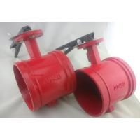 Quality XD381X UL Listed Grooved Butterfly Valve with Tamper Switch and worm gear wholesale