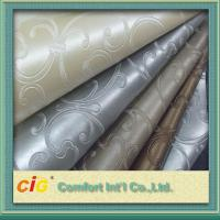 Quality Classic Woven Knitted Backing PVC Artificial Leather For Upholstery wholesale