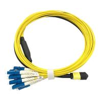 Quality MPO - LC SX Fiber Optic Patch Cord Single Mode For QSFP optical Transceiver wholesale