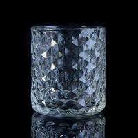 Quality Popular Home use candle glass containers Custom Clear Diamond Shape wholesale