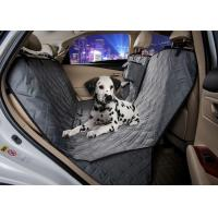 Quality Grey Animal Car Seat Covers , Non Slip Rear Car Seat Covers For Dogs wholesale