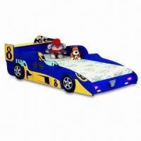 China Kid's Racing Car Bed, Made of High Density Fiber Board, Measures 90 x 190cm on sale