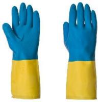 China Bicolourable Neoprene Chemical Resistant Gloves  (GBR900) on sale