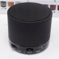 Cheap Metal FM LED Music Bluetooth Speaker , Bluetooth Music Player High - End Stereo for sale