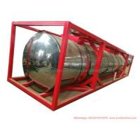 40FT Sulfur ISO Tank Container (Insulated Cladding Stainless Steel 316L Tank for Liquid Molten Sulfur Transport Storage)
