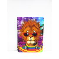 Quality 400 DPI PET / PP A6 3D Lenticular Notebook / Spiral Diary Book wholesale